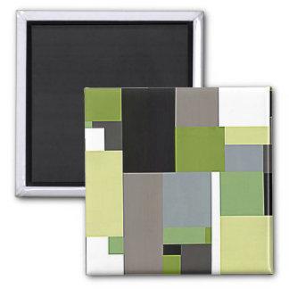 Green & Gray Geometric Design Magnet