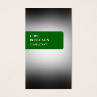 Green Gray Light Attractive Business Card