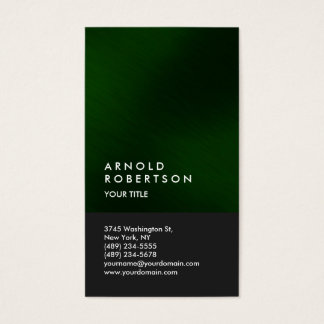 Green Gray Modern Professional Business Card
