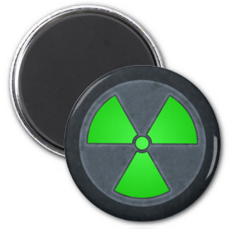 Green & Gray Radiation Symbol Magnet