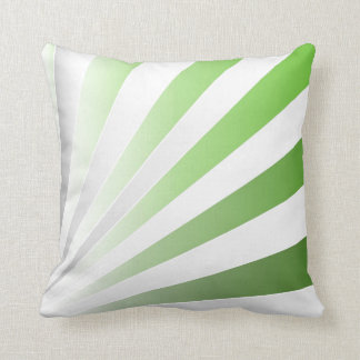green gray rays pillow