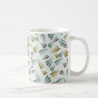Green Gray Sepia Abstract Pattern Coffee Mug