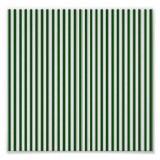 Green Gray Stripes Poster