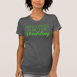 Green & Gray Sweating For The Wedding. Singlet T-Shirt