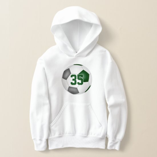 green gray team colors jersey number soccer hoodie