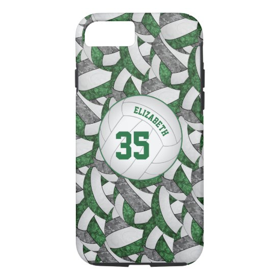 green gray team spirit gifts girls' volleyball iPhone 8/7 case