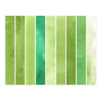 green great watercolor background - watercolor postcard