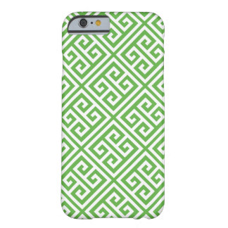 Green Greek Key Pattern Barely There iPhone 6 Case
