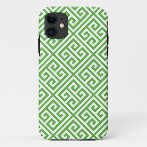 Green Greek Key Pattern Phone Case