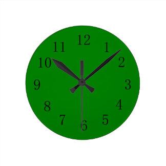 Green Green Color Wall Clock
