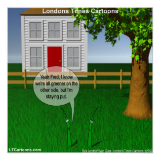 Green Green Grass Funny Poster