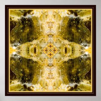 Green grenade I gemstone fractal art poster