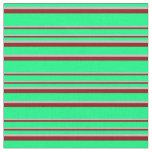 [ Thumbnail: Green, Grey, and Dark Red Colored Pattern Fabric ]