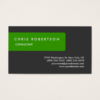 Green Grey Attractive Charming Business Card