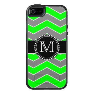 Green, Grey, Black Chevron, Monogrammed Otterbox OtterBox iPhone 5/5s/SE Case