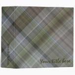 Green grey brown plaid pattern binders