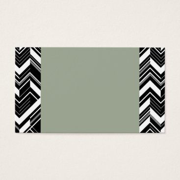 Professional Business Green/Grey Chevron Business Cards