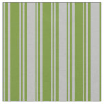 [ Thumbnail: Green & Grey Colored Striped/Lined Pattern Fabric ]