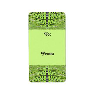 Green grey Gift tags