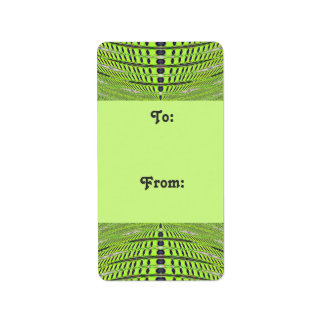 Green grey Gift tags Personalized Address Label