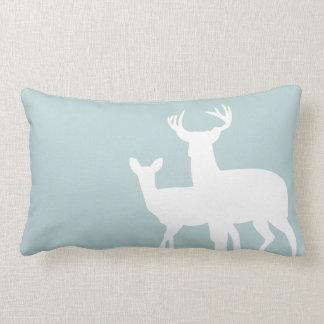 Green Grey Male Female Deer Pillow