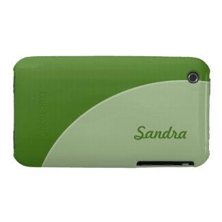 Green Grey Modern Circle iPhone 3 Cases