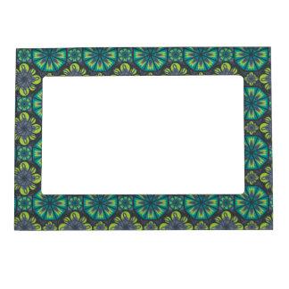 Green Grey Tile Picture Frame Magnet