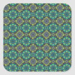 Green Grey Tile Square Stickers