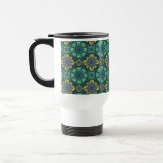Green Grey Tile Travel Mug