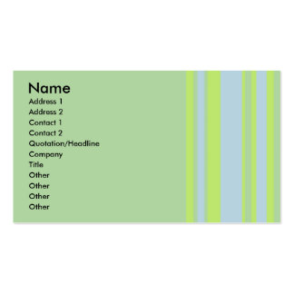 green grey yellow striped business card