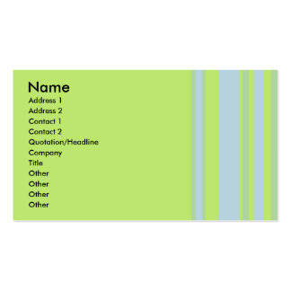 green grey yellow striped business card template