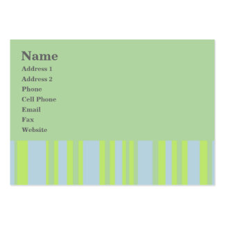 green grey yellow stripes business card