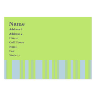 green grey yellow stripes business card template
