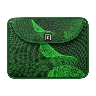 Green Grid Wave Macbook Pro Sleeve