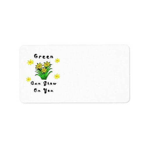 Green Grows On You Address Label