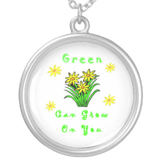 Green Grows On You Round Pendant Necklace