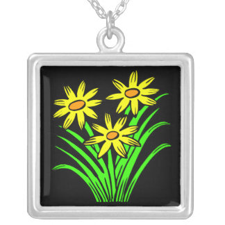 Green Grows On You Square Pendant Necklace