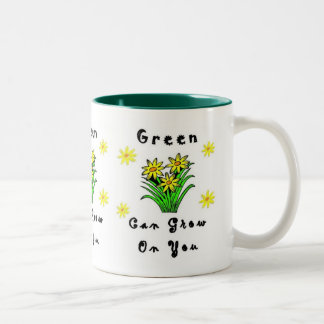 Green Grows On You Two-Tone Coffee Mug