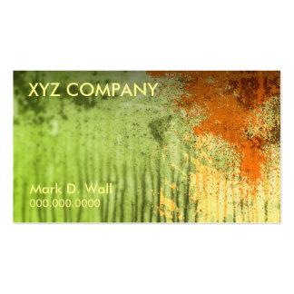 Green Grunge Business Cards