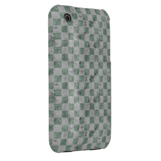 Green Grunge Checkerboard iPhone 3 Cover