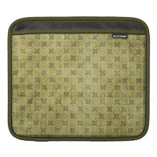 Green Grunge Circle Pattern iPad Sleeve