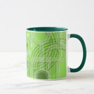 Green Grunge Circles Mug