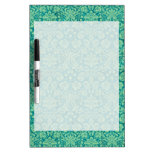 Green Grunge Damask Dry-Erase Boards