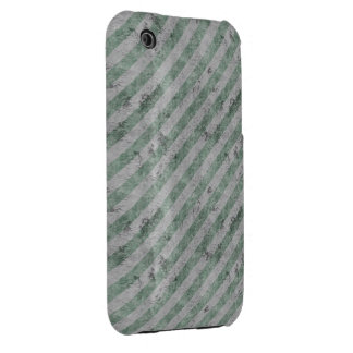 Green Grunge Diagonal Stripes iPhone 3 Case-Mate Cases