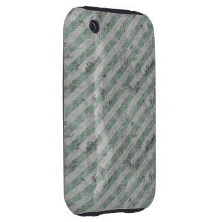 Green Grunge Diagonal Stripes iPhone 3 Tough Cover