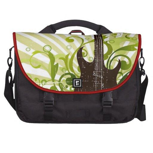 Green Grunge Guitar Computer Bag