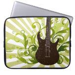 Green Grunge Guitar Computer Sleeve