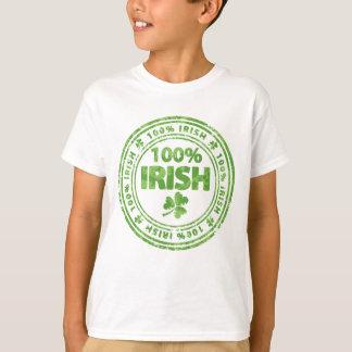 Green grunge Irish with clovers tee shirt