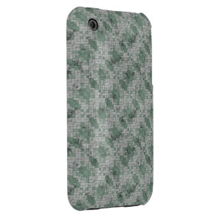 Green Grunge Mosaic Case-Mate iPhone 3 Cases