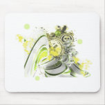 green grunge mouse pad